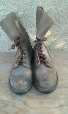 VTG French RANGER 1950's Foreign Legion Rough Out Military Boots Mens Size 9 US