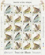 INSEL MAN - 2000 VÖGEL SINGVÖGEL WWF BIRDS 860-63 KLEINBOGEN **