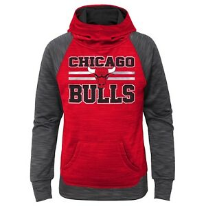 Chicago Bulls Girls Small 6-6x Space Dye Pullover Hoodie - CLOSEOUT