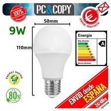 S1094 Bombilla Lampara LED E27 B22 9W Luz Blanca 6500K Bajo Consumo Alto Brillo