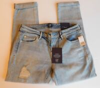NWT GAP Women's Girlfriend Denim Stretch Destructed Jeans Sizes 2 4 MSRP$70 New