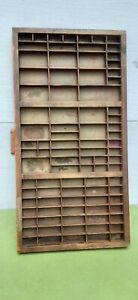 Vintage wood  printer press drawer type set press shadow box 32 x 17 x 1.5