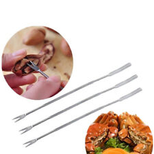 4X Stainless Steel Crab Lobster Walnut Needle Needle Fruit Fork Seafood Tools
