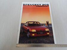 brochure originale in italiano Peugeot 205 cabriolet CT CTI depliant prospekt