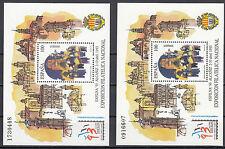 Spanien Block 53 2 Blocks postfrisch Nationale Briefmarkenausstellung EXFILNA'93