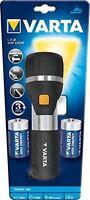 TORCIA LED VARTA DAY LIGHT F30 196x62 mm resistente ad acqua e a urti 2 PILE D