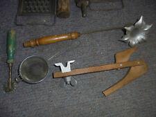 29072 10x Küchengeräte 1930 Spritze Teigroller Form Zink vint. kitchenware Hobel
