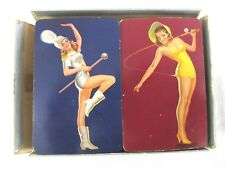 VINTAGE PIN-UP PLAYING CARDS DOUBLE DECK 52+2EA