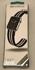 Apple Watch Compatible X-Doria Navy & White Field Band Nylon Wristband 42mm NEW
