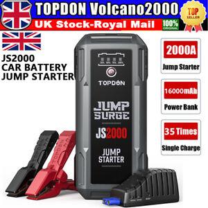 NEW Jump Starter 16000mAh Power Bank Charger DC 12V Car Battery Pack Booster