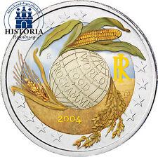 Italie 2 euro pièce commémorative 2004 mondiales, world food programme en couleur