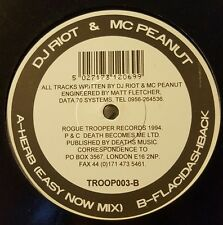 DJ RIOT & MC PEANUT - HERB / FLACIDASHBACK  - RARE 1994 JUNGLE