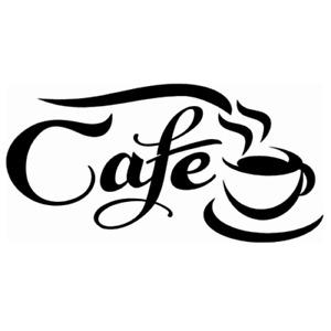 cafe window door vinyl graphic wall art sticker bar restaurant coffee tea shop