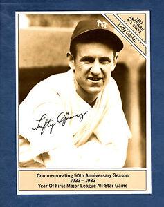 "GIANTsize 4.5""x 6"" Conlon 1933 All-Star: LEFTY GOMEZ, Yankees / 1983 Marketcom"