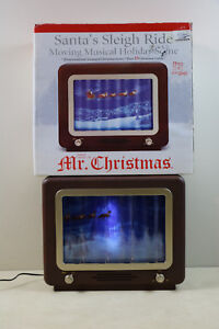 Mr Christmas Illuminated Santas Sleigh Ride Animated Musical Display 15 Song