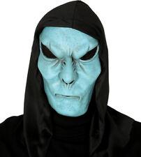 Blue Alien Máscara De Látex Con Capucha Monstruo Horror Disfraz De Halloween Disfraz Nuevo