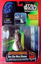 Star Wars Figure ELECTRONIC POWER FX BEN OBI-WAN KENOBI w/Glowing Lightsaber MOC