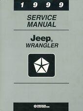 1999 Jeep Wrangler Shop Service Repair Manual Book Engine Drivetrain Electrical