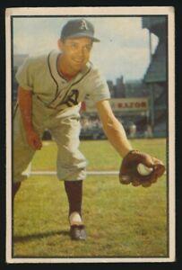 #105 EDDIE JOOST 1953 Bowman Baseball Color PHILADELPHIA ATHLETICS