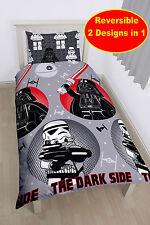 COTTON BLEND MATERIAL Lego Star Wars Villains Boys Single Duvet Quilt Cover Set