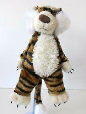 Jellycat - Stripey Tiger - Soft Cream & Brown Beanie - Retired / Rare