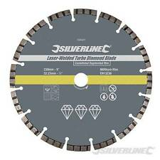 230x2.6x22.23mm Laser-Welded Turbo Diamond Blade  STOCK CLEARANCE SPECIAL PRICE