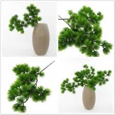 Rama de pino artificial simulación en maceta planta verde falso Pine Tree Bonsai Sm