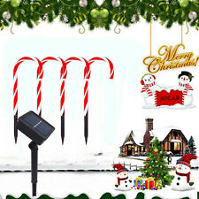 Candy Cane Outdoor Christmas Decor Solar Path-light Stake Lamp Pathway Christmas