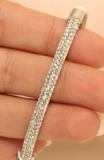 4 Carat Diamond 14K White Gold Finish Bangle Bracelet For Women