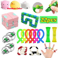22Pack Fidget Sensory Toys For Stress Relief Anti-Anxiety Stocking Stuffer US
