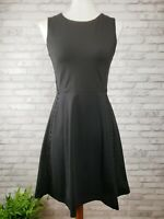 Cynthia Rowley dress size Small black sleeveless fit & flare leather cord detail
