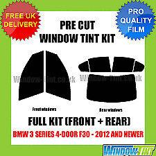 BMW 3 SERIES 4-DOOR SALOON F30 2012+ FULL 50% PRE CUT WINDOW TINT (Clearance#19)