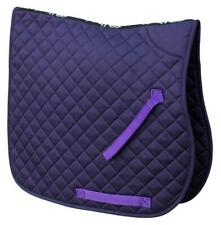 Rhinegold Cotton Quilted Saddlecloth in Purple