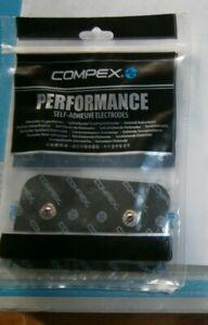 électrodes COMPEX Performance 4 rectangles noires