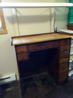 Watchmakers Jewelers 15-drawer work bench/cabinet vintage antique