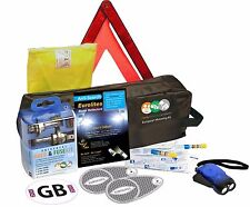 French Euro Driving Kit Alcohol Breathalyser Light Deflectors Travel Triangle