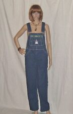 Vintage Bib Overalls Lady Liberty Jean Jumper Indigo Hippy Festival 30 w 38 Hip