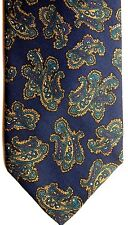 "Robert Talbott Men's Silk Tie 55.5"" X 3.5"" Navy w/ Multi-Color Abstract Paisley"