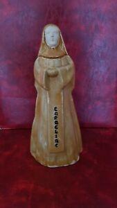 Belle bouteille en céramique en forme de religieuse - Carmeline Secrestat Ainé