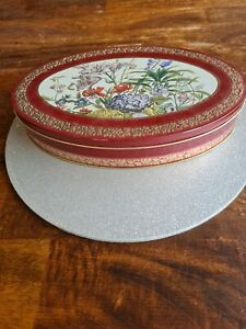 Vintage Oval Sewing Tin