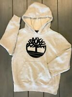 Timberland Hoodie Hooded Sweatshirt Heather Gray Pullover Youth Size M (10-12)