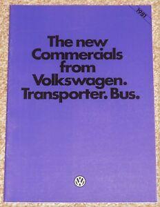 1980-81 VW TRANSPORTER TYPE 2 T3 (T25) Sales Brochure - Van Pick-Up Bus - MINT!