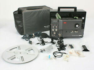 Vtg Elmo Sound GS-800M Super 8 Stereo Movie Projector Lot of ELMO EXTRAS - JAPAN