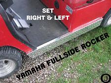 Yamaha G14,G16,G19 & G22 Golf Cart Polished Aluminum Diamond Plate Rocker Panels
