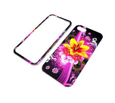 NEW YELLOW FLOWER RIGID PLASTIC 2-PIECE IPHONE 5 5S CASE SUPER FAST SHIPPING