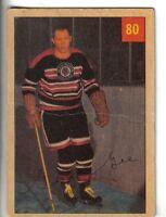 1954-55 Parkhurst Hockey Card #80 George Gee Chicago Black Hawks VG.