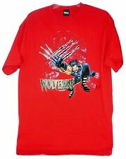 WOLVERINE X-MEN T SHIRT MARVEL COMICS LARGE NEW W/ LICENSE TAG MAD ENGINE RED