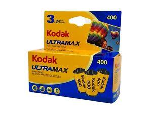 Kodak ultramax 400asa 24 exposure 35mm Color film - TRIPLE Pack **exp 07/23**