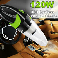 120W USB Cordless Portable Handheld Car Vacuum Cleaner Rechargeable Wet Dry Home