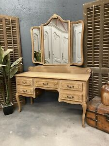 Sandblasted Vintage French Dressing table / Shabby Chic Style